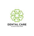 dental care logo template vector image vector image