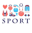 Different colored sports symbols vector image vector image