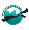 DIVING SCHOOL logo vector image vector image
