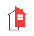 drafter architect and developer home design logo vector image vector image