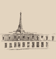 Eiffel Tower Paris France architecture vintage vector image vector image