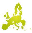 european union territory green gradient vector image vector image