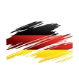 Flag Germany in the form traces brush vector image