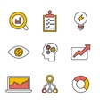 Flat set of modern icons and symbols on vector image vector image