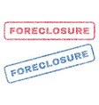 foreclosure textile stamps vector image vector image