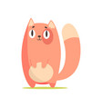 funny red cat cute cartoon animal character vector image vector image