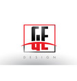 ge g e logo letters with red and black colors and vector image vector image