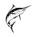 graphic marlin vector image vector image
