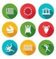 Greece Icons Set vector image vector image