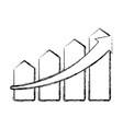 growing arrow business vector image vector image