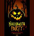 halloween design template pumpkin head and place vector image vector image