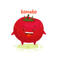 happy cute smiling tomato vector image vector image
