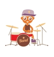 hip hop drummer vector image vector image