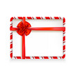 holiday stripe frame-10 vector image vector image