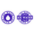 ice water grunge stamp seals vector image vector image