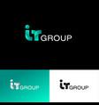 internet technology group logo web ui icon vector image vector image