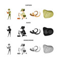 isolated object of story and items symbol set of vector image