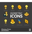 Isometric outline icons set 58 vector image vector image