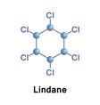 lindane gammaxene organochlorine vector image vector image