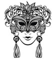 mask silhouette vector image