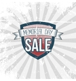 Memorial Day Sale Label and Ribbon with Text vector image vector image