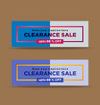 modern blue clearance sale banners vector image vector image