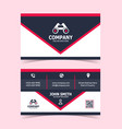 modern double-sided business card print template vector image vector image