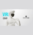 novel coronavirus covid-2019 stay at home mask vector image vector image