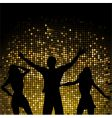 party people and mosaic background vector image vector image