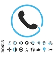 Phone Flat Icon With Bonus vector image vector image