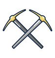 pick axe tool icon cartoon style vector image vector image