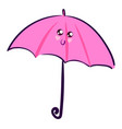 pink cute umbrella on white background vector image