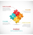 Puzzle piece 3D infographics business concept vector image vector image