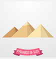 pyramids giza icon on white background vector image vector image
