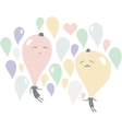 Romantic date of soap bubbles vector image