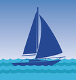 Sailing boat in the sea vector image vector image