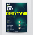 science conference business design template vector image