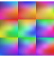set colorful background vector image vector image