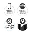 set digital technology apps icons vector image vector image