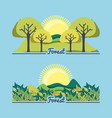 set of natural forest landscapes vector image