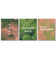 set of unique autumn geometric background vector image vector image
