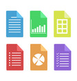set of web document flat icon stock vector image vector image