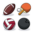 set sport balls equipment image vector image vector image