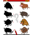 shadows task with animals vector image vector image
