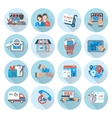 Shopping E-commerce Icon Flat vector image vector image