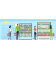 Shopping in Supermarket in Flat Design vector image vector image