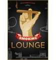 Smoking Dark Poster vector image vector image