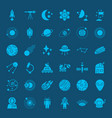 space glyph web icons vector image