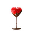 strawberry with chocolate dipping valentine day vector image vector image