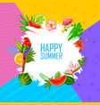 summer time exotic tropical poster design vector image vector image